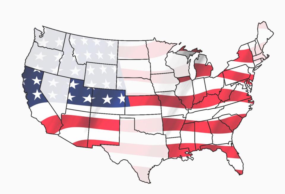 Die von uns besuchten Bundesstaaten der USA